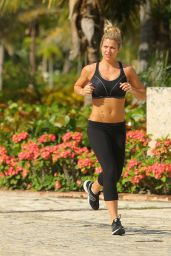 Gemma Atkinson in Spandex - Out for a Morning Jog - May 2014