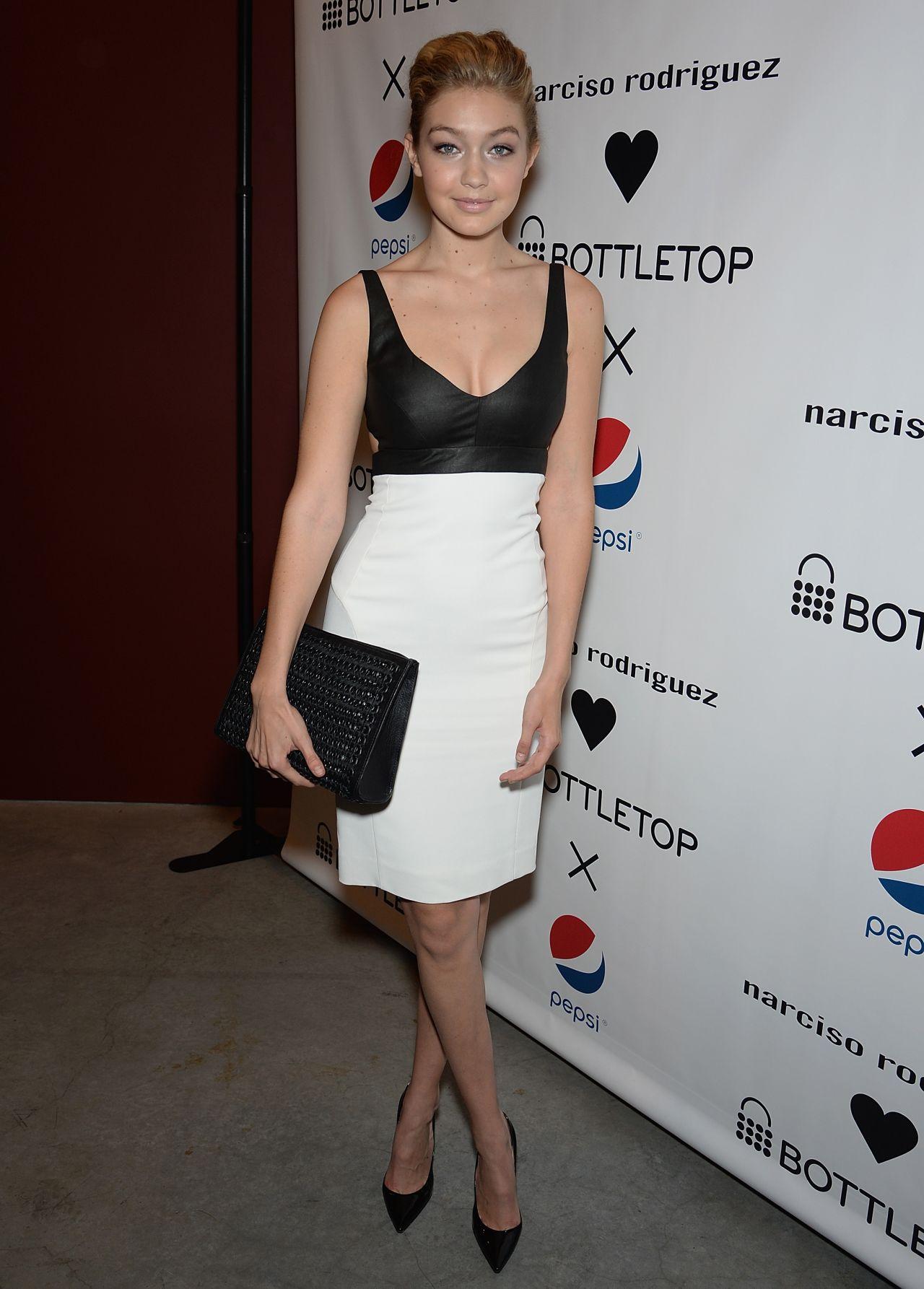 Gigi Hadid – Narciso Rodriguez Bottletop Collection Pepsi Launch - May 2014