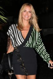 Heidi Klum Night Out Style - Leaving the Chateau Marmont in Los Angeles - May 2014