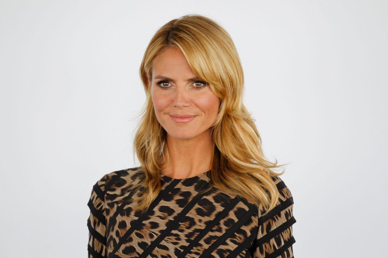 Heidi Klum: Heidi Klum Wearing Roberto Cavalli Dress