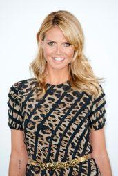 Heidi Klum Wearing Roberto Cavalli Dress  – 'Germany's Next Topmodel' Photocall - May 2014