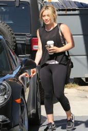 Hilary Duff in Leggings – Out in Los Angeles - May 2014