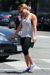 Hilary Duff in Tights, at a Gym in Los Angeles - May 2014