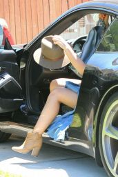 Hilary Duff – Leggy Candids - Stops By A Friends House In Hollywood