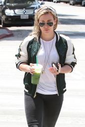 Hilary Duff - Outing to Starbucks in West Hollywood - May 2014