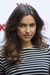 Irina Shayk in Mini Dress at Xti Promotional Event in Madrid - May 2014
