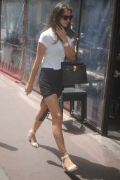 Irina Shayk in Mini Dress - Out In Cannes - May 2014