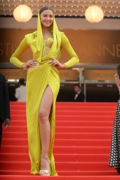 Irina Shayk Wearing Atelier Versace Dress -