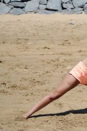 Jasmin Walia - Workout on the Beach in Tenerife - May 2014