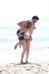Jennette McCurdy in a Bikini at a Beach in Santa Monica - May 2014