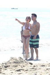 Jennette McCurdy in a Bikini at a Beach in Santa Monica - May 2014