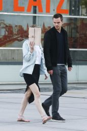 Jennifer Lawrence Banged up Legs - Out in Cologne, Germany - May 2014