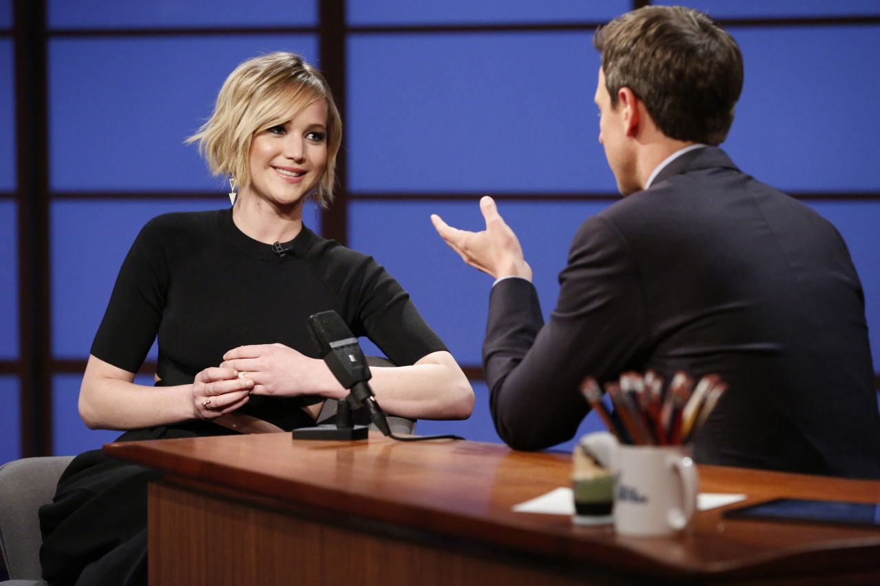 jennifer lawrence late night with seth meyers may 2014