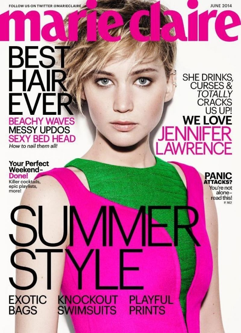 Jennifer Lawrence - Marie Claire Magazine June 2014 Issue
