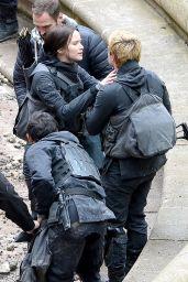 Jennifer Lawrence - 'The Hunger Games: Mockingjay Set Photos – Paris, May 2014