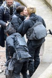 Jennifer Lawrence - 'The Hunger Games: Mockingjay Set Photos – Paris, May 2014