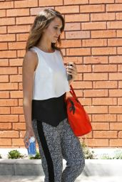 Jessica Alba Casual Style - Heads to Her Office in Santa Monica - May 2014