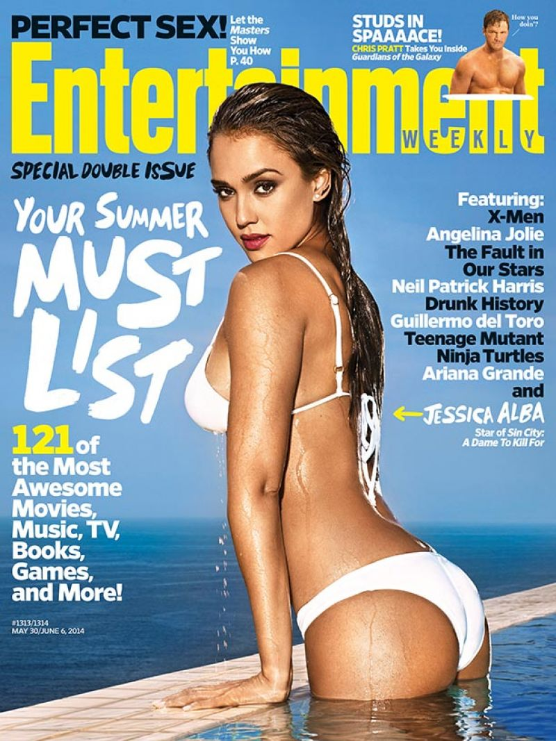Jessica Alba in a Bikini - Entertainment Weekly Magazine May/June 2014 Cover