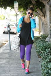 Jessica Alba in Spandex - Leaving the Gym in West Hollywood - May 2014