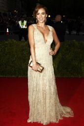 Jessica Alba Wearing Diane Von Furstenberg Dress – 2014 Met Costume Institute Gala