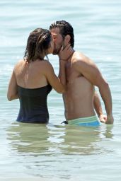 Jessica Szohr in a Bathing Suit - Beach in Los Angeles - May 2014