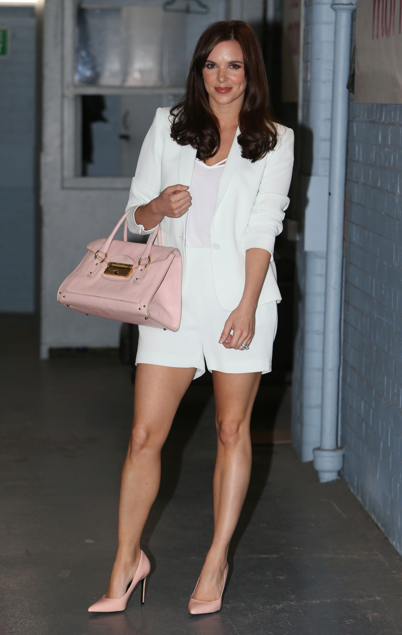 Jodi Albert shows Off Her Legs - at ITV Studios - May 2014