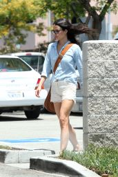 Jordana Brewster in White Shorts - Out in Los Angeles - May 2014