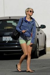 Julianne Hough in Shorts - Leaving a Dance Studio in LA - May 2014