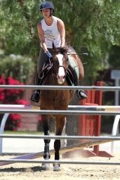 Kaley Cuoco Riding Her Horse - Los Angeles, May 2014