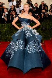 Karolina Kurkova Wearing Marchesa Gown – 2014 Met Costume Institute Gala