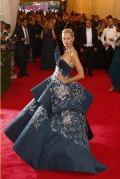 Karolina Kurkova Wearing Marchesa Gown – 2014 Met Costume Institute Gala