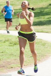 Kat Graham - Working Out at a Park in Los Angeles - May 2014