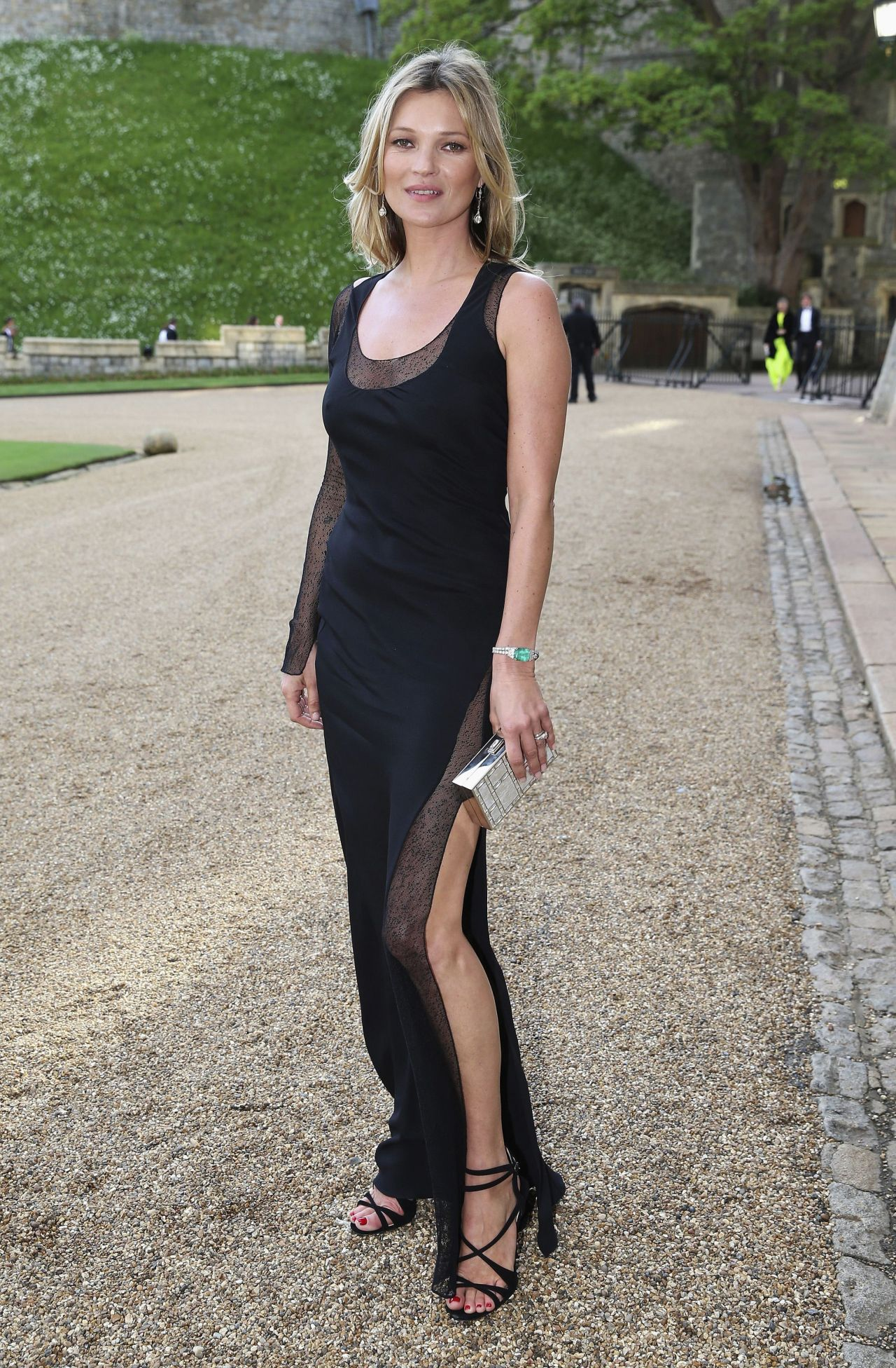 Kate Moss Wearing Ralph Lauren Dress – The Duke of Cambridge Celebrates The Royal Marsden in Windsor