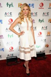 Katheryn Winnick Attends the 2014 AE Networks Upfront Park Avenue Armory New York City