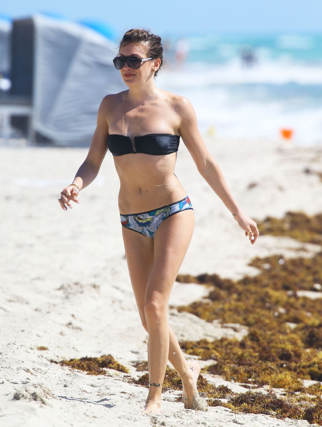 Katie Cassidy in a Bikini on the Beach in Miami - April 2014