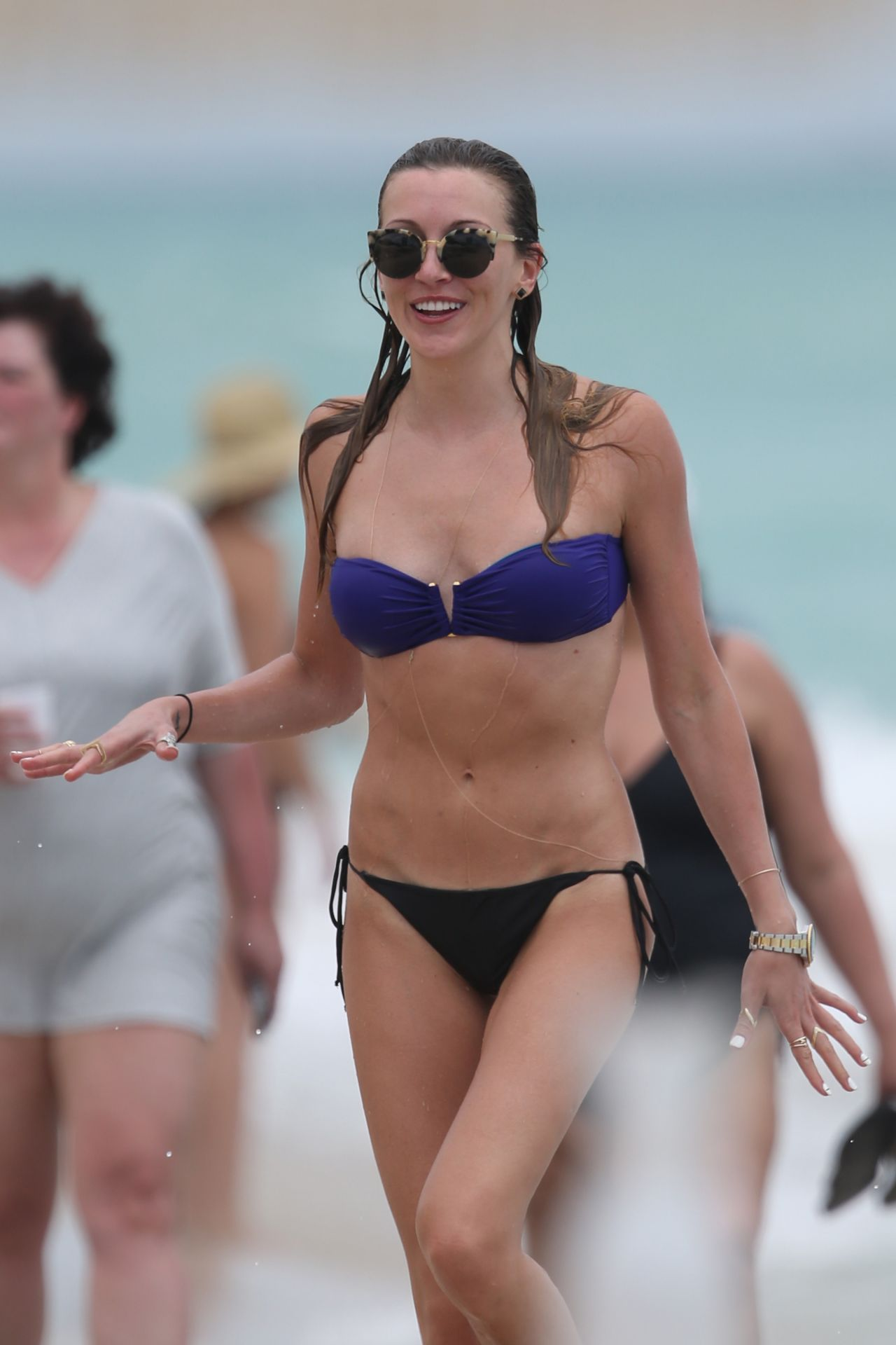 katie cassidy wearing a bikini at a beach in miami