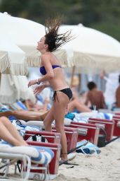 Katie Cassidy Wearing a Bikini at a beach in Miami - May 2014