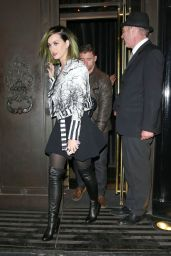 Katy Perry Night Out Style - Leaving The Wolsley in London