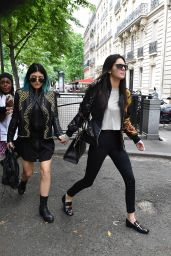 Kendall & Kylie Jenner Street Style - Out in Paris - May 2014