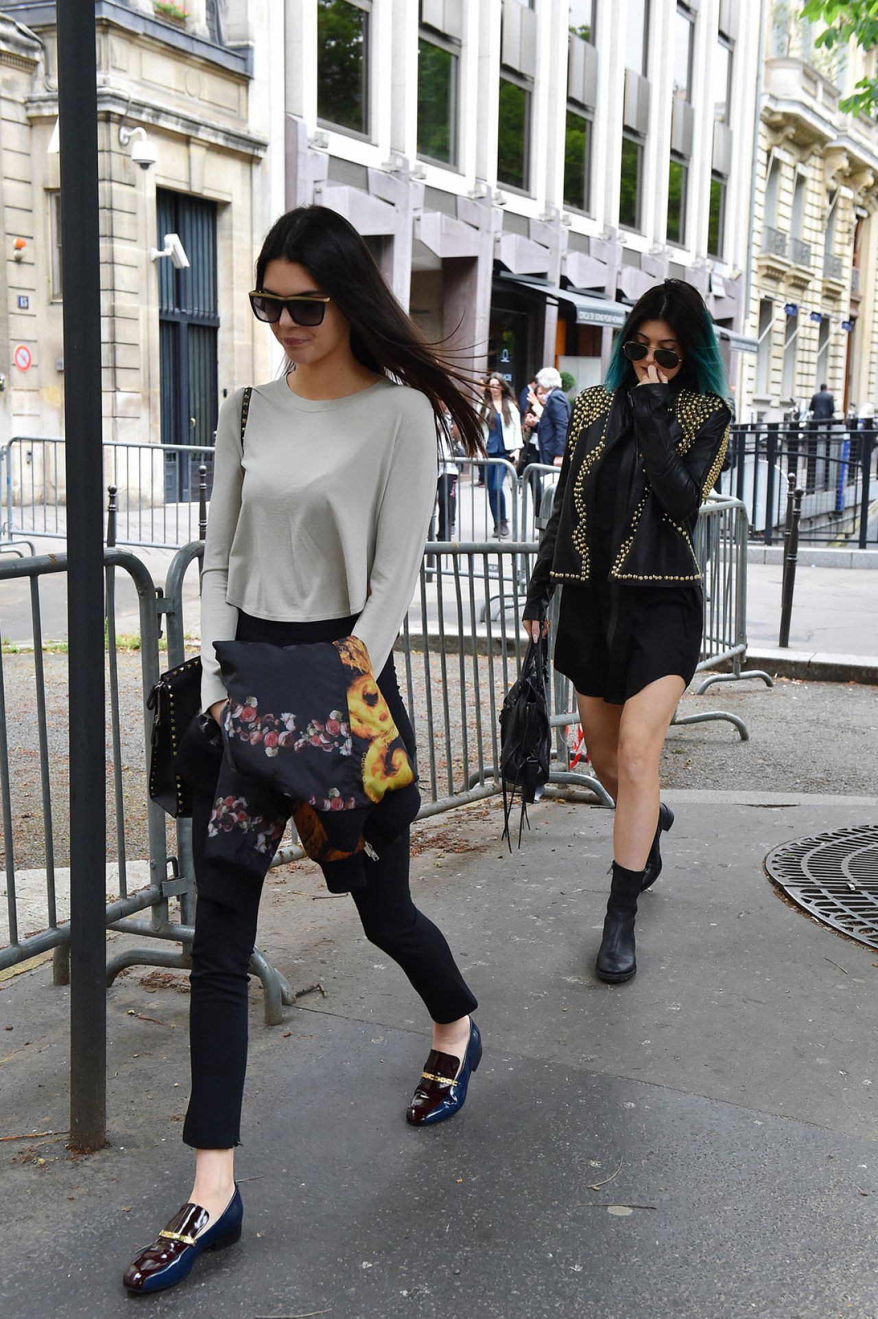 Kendall Kylie Jenner Street Style Out In Paris May 2014