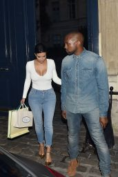 Kim Kardashian in Paris - Shopping Time! - May 2014
