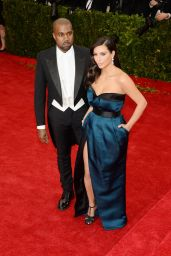 Kim Kardashian Wearing Givenchy Couch Dress - 2014 Met Costume Institute Gala
