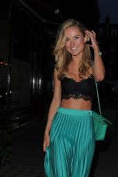 Kimberley Garner Night Out Style - Leaving Chiltern Firehouse in London
