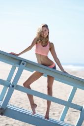Kimberley Garner - Photoshoot at Santa Monica Beach - April 2014