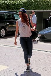 Kristen Stewart - Arriving in Cannes - May 2014