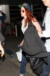 Kristen Stewart - Arriving in LAX Airport - May 2014