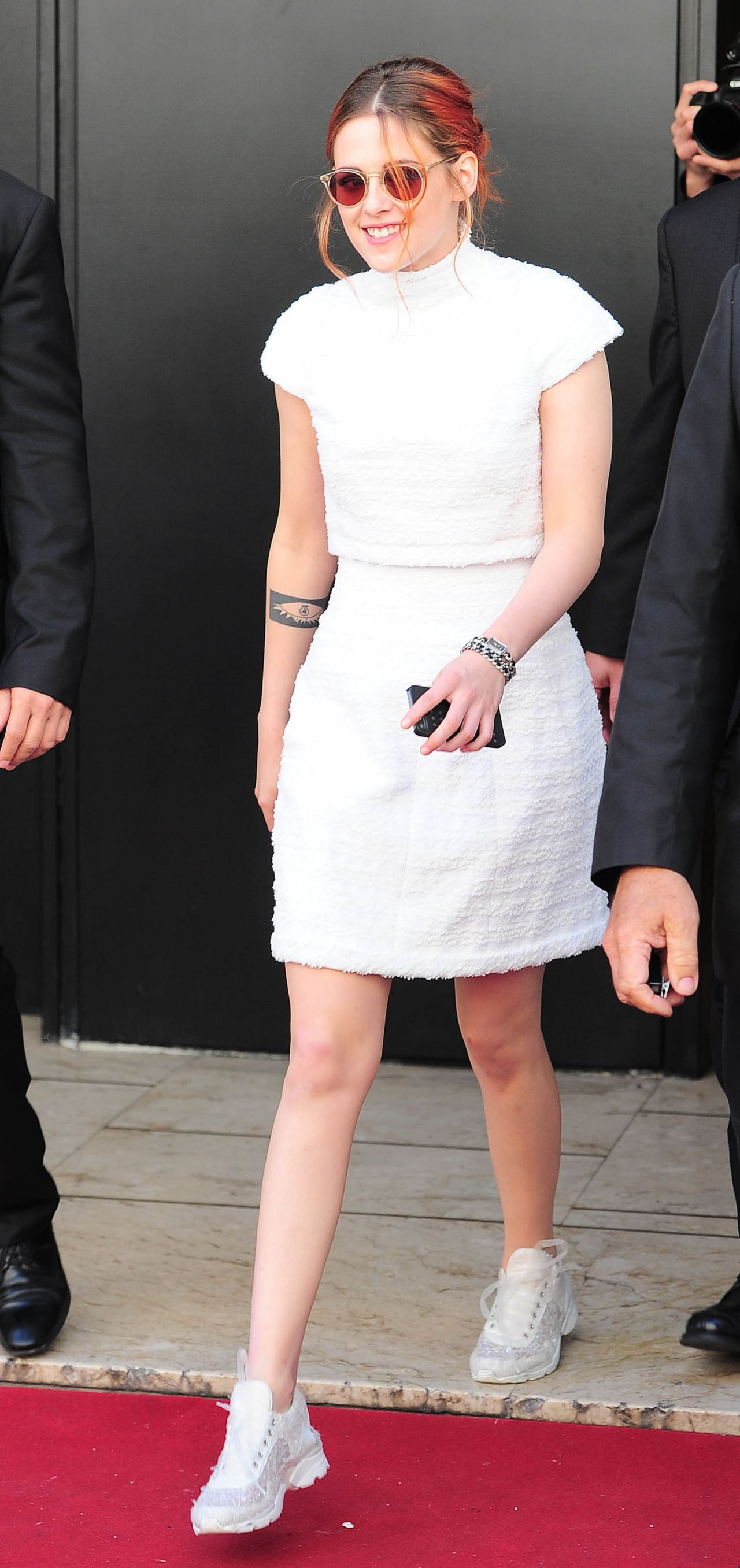 Kristen Stewart in France - Outside Her Hotel in Cannes - May 2014