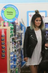 Kylie Jenner Street Style - Shopping in a Drug Store - May 2014