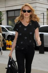 Kylie Minogue Casual Style - BBC Studios in London - May 2014