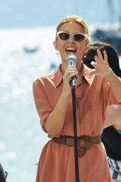 Kylie Minogue Performs on Stage for French TV Station Canal+ in Cannes